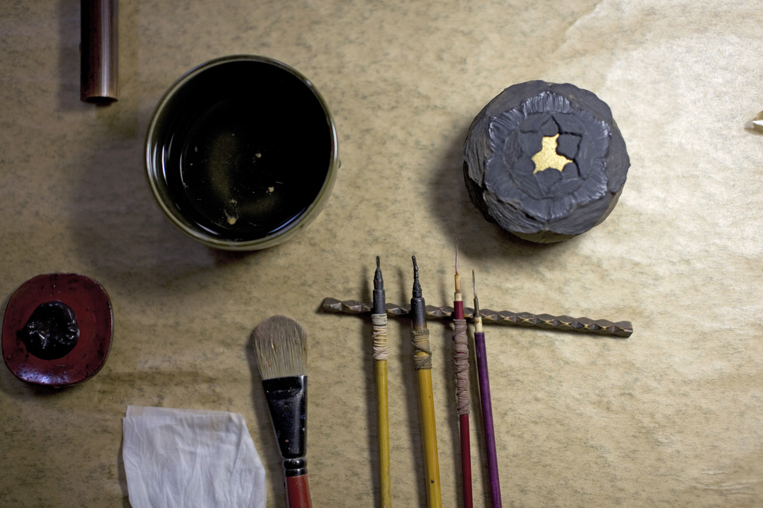 Some of the tools of Mr Ikeda