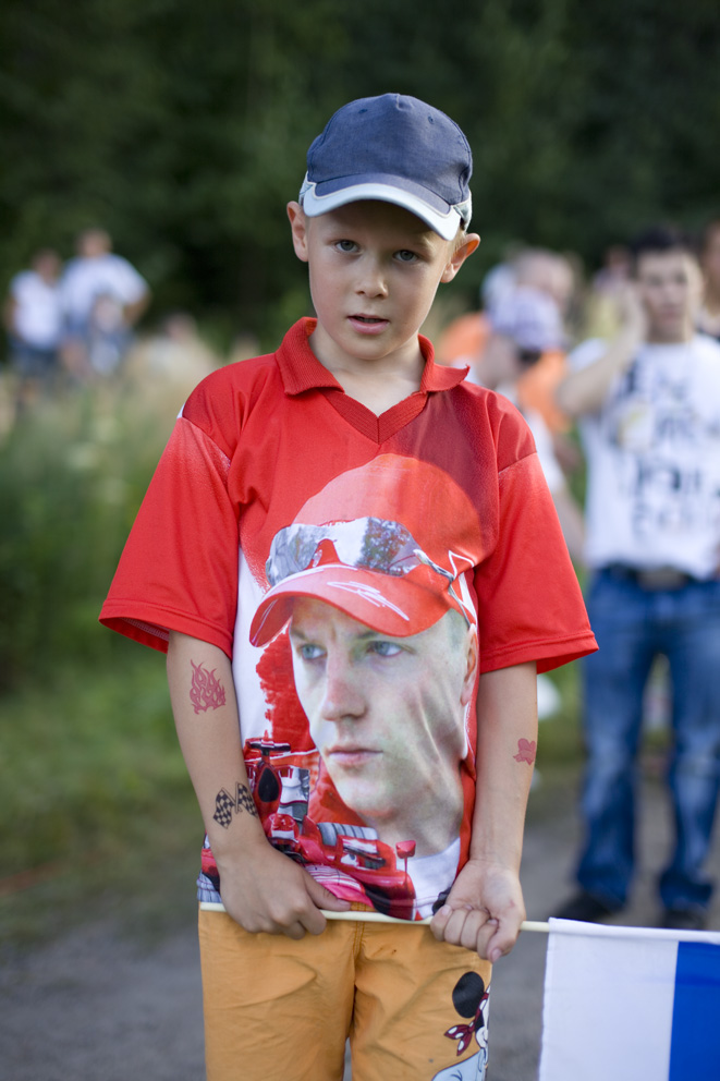 Fans at the Finnish WRC