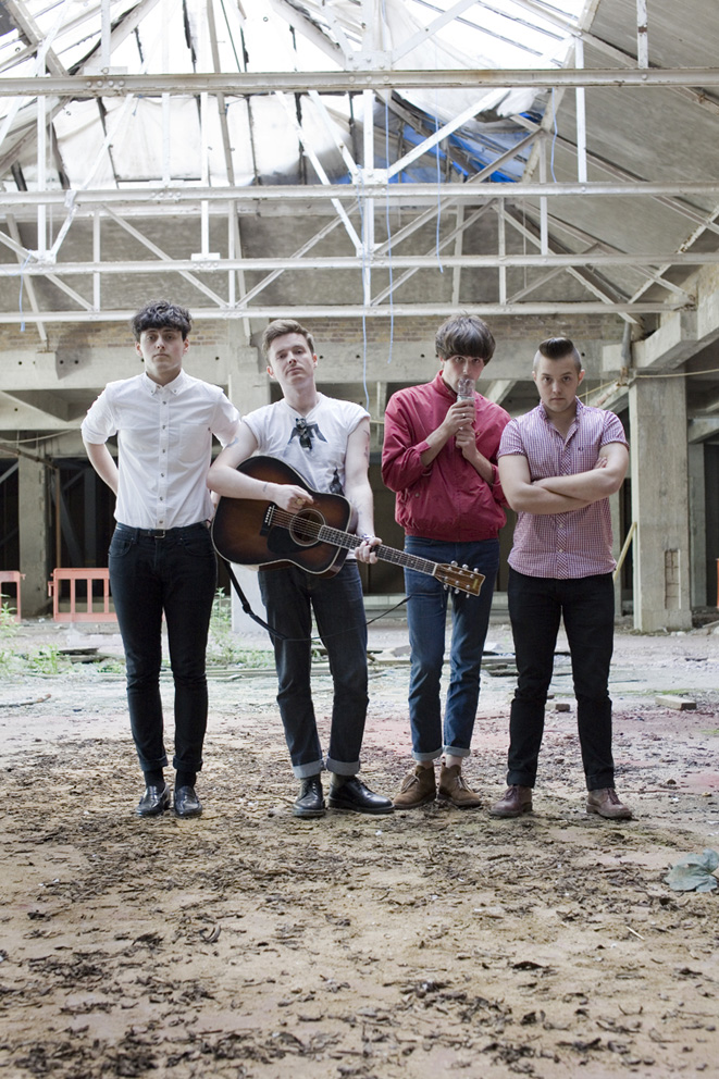 The Keepsakes (left) and The Heartbreaks (right), shot for The Old Vinyl Factory Sessions