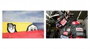 The Michelin man and Minardi F1Driver Christijan Albers