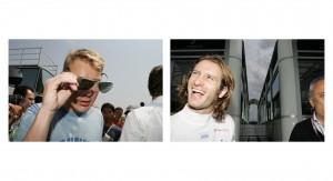 F1 Legend Mika Hakkinen and Toyotas Jarno Trulli