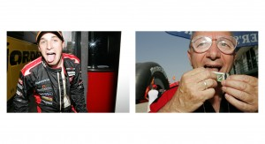 Minardi driver Christijan Albers and some old dude