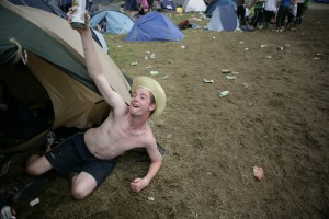 A fan at Ireland's biggest music festival