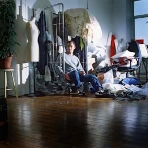 London based fashion designer shot for RAG the London Fashion week newspaper