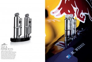 Salt and Pepper pots made from gearbox filters
