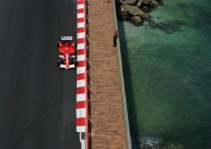 Michael Schumacher entering the tunnel at the Monaco GP, 2005