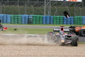 Liuzzi skids off the Magny Cours track