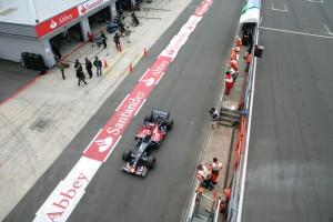 Silverstone pit lane, 2007