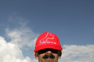 A marshal at the Turkish Grand Prix