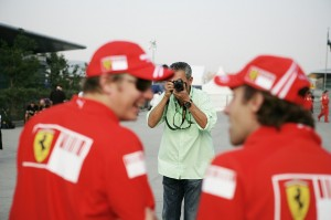 Somewhere in the world, someone has a great photo of me, taking a photo of the back of Kimi Räikkönen's head