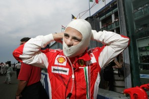Felipe Massa ready for action, at the French Grand Prix 2008