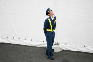 A Japanese policeman