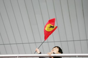 A young fan at the Chinese Grand Prix