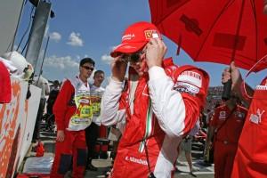 Kimi Räikkönen prepares to race, at the Hungarian GP 2008