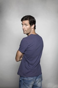 Australian racing driver Mark Webber at home