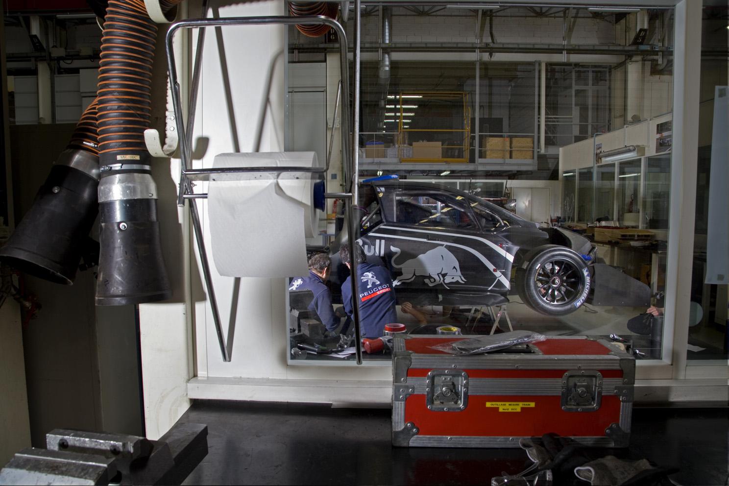Sebastien Loeb's record breaking Red Bull, Peugeot 208, Pikes Peak racing car