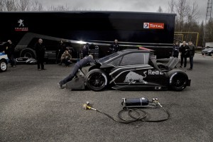 Sebastien Loeb's record breaking Red Bull, Peugeot 208, Pikes Peak racing car