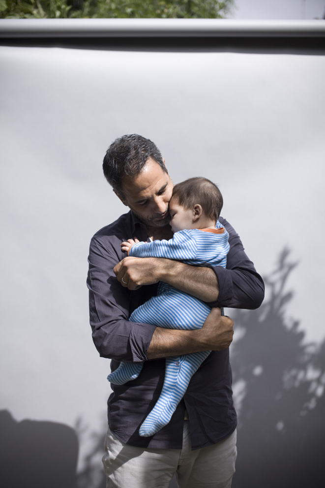 Cookery writer and chef-patron, Yotam Ottolenghi with his son Max