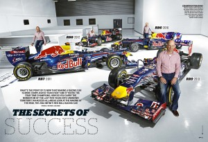 Red Bull Racing's Adrian Newey shot for the pages of the Red Bulletin magazine