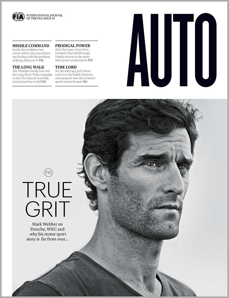 Australian racing driver Mark Webber feature in AUTO the FIA Magazine