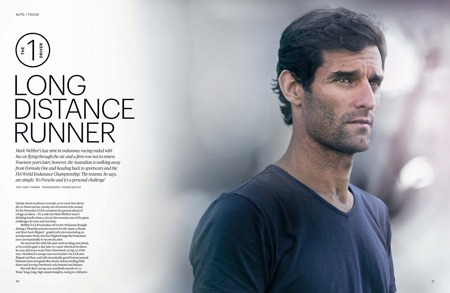 Australian racing driver Mark Webber feature in AUTO the FIA Magazine