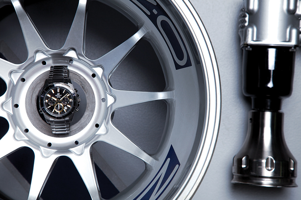 Casio watches shot with the new Red Bull Formula one car