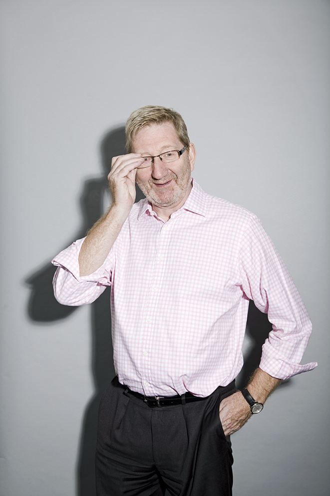 Len McCluskey, meets members of the Unite Union in Eastbourne.