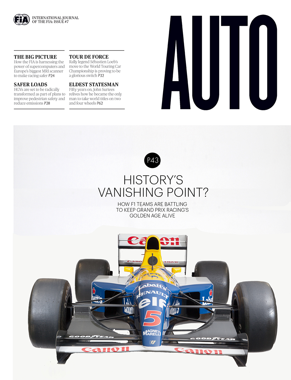 Cover of the FIA's Auto Magazine