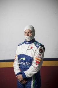 Racing driver Simona di Silvestro testing for the Sauber Formula one team in Valencia.