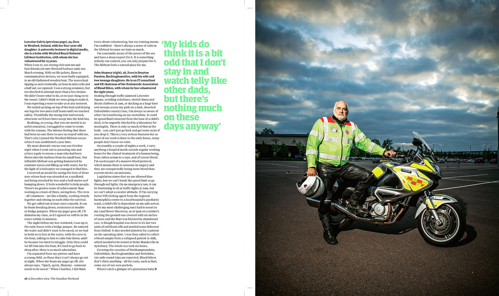 John Stepney - IT consultant and Blood Biker