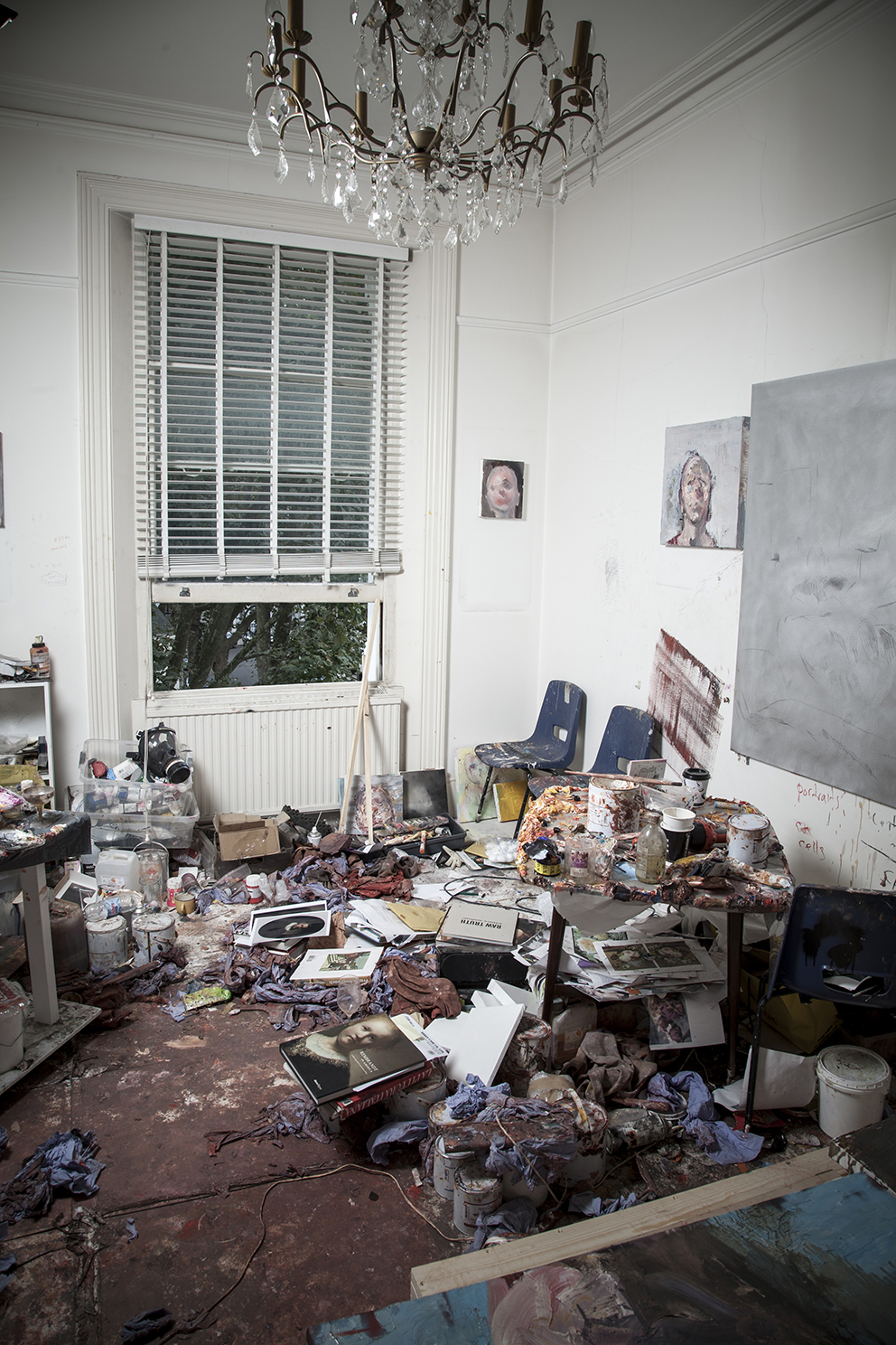 Artist and painter Antony Micallef's artist studio