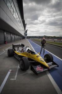 Romain Grosjean test drives Alain Prosts championship winning F1 car.