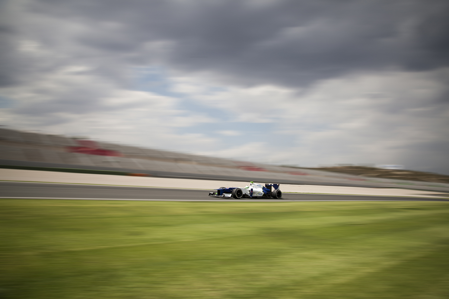 Racing driver Simona di Silvestro testing for the Sauber Formula one team in Valencia.
