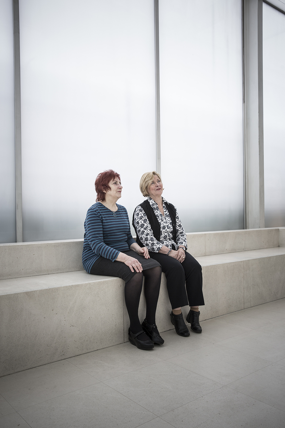 Cynthia Barlow and Anne Austen, shot for the Two's Company feature for the Guradian Weekend